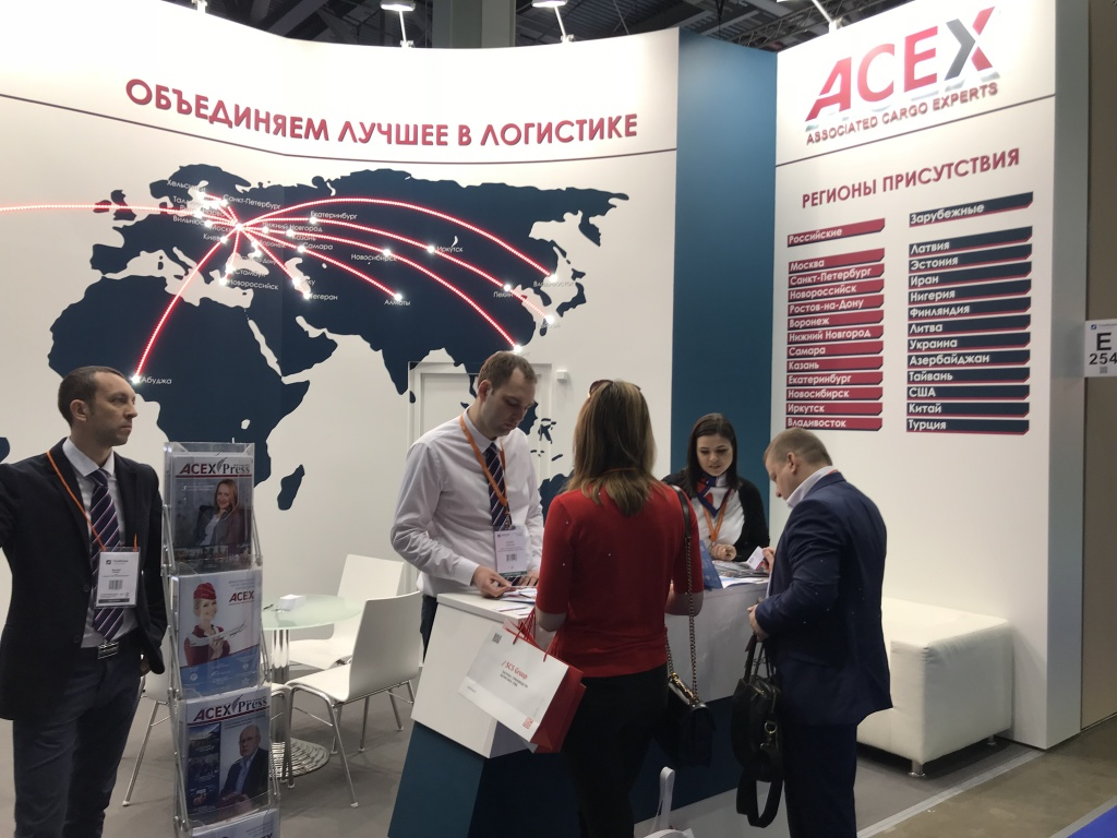 Exhibition Booth Sia : Acex sia participated in transrussia